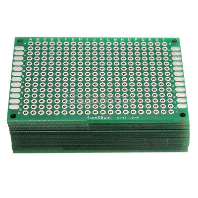 5Stks Double Side Prototype PCB Tinned Universal Breadboard 4x6 cm 40mmx60mm FR