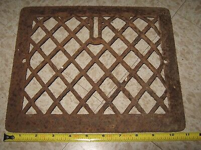 Square Cast Iron wall Floor Register Heat Grate antique vintage
