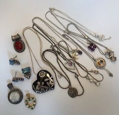 STERLING SILVER Mixed Jewelry Lot Vintage Now 84g Untested Stones