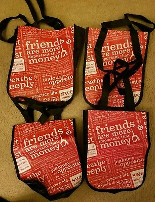 * lot of 4 * lululemon reusable shopping tote bag