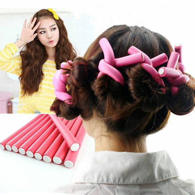 10pcs Curler Makers Soft Foam Bendy Twist Curls DIY Styling Hair Rollers Tool