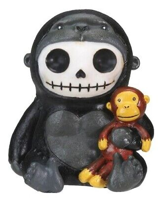 FurryBones Kongo Figurine Ornament Gorilla Cool Cute Gothic Skeleton Skull Black