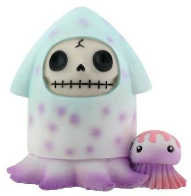 FurryBones Squeed Figurine Ornament Squid Skeleton Skull Gothic Cool Gift Cute