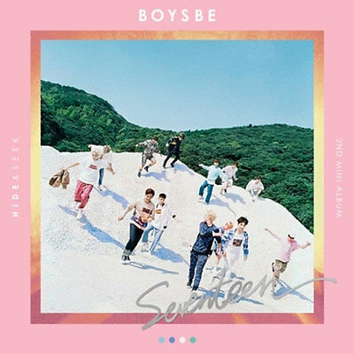 SEVENTEEN-[BOYS BE]2nd Mini Album Hide Ver CD+Poster/On+Book+Card+Post+etc+Gift