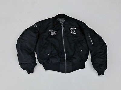 Vtg The Rock Movie Cast And Crew Flight Jacket Sz L