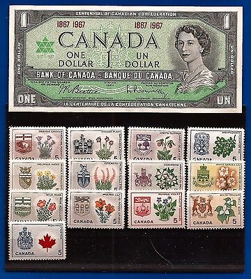 1967 CANADA Centennial Provinces stamp set MINT NEVER HINGED ** MNH + NOTE