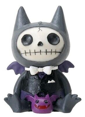 FurryBones Flappy Large Figurine Ornament Bat Cute Black Purple Gothic Skull Fun