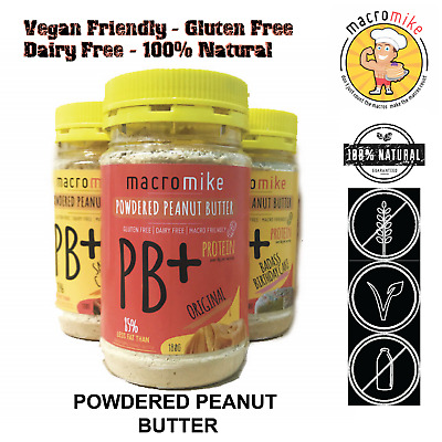 1x MACRO MIKE ORIGINAL PB+ POWDERED PEANUT BUTTER 180g