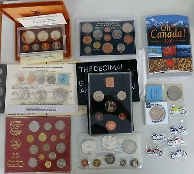 Bulk World coin UNC/Proof sets Silver coins Barbados NZ Canada UK Somali Cook Is
