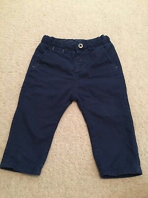 Zara Baby Boy Naby Blue Chinos Pants Size 0 9-12 Months