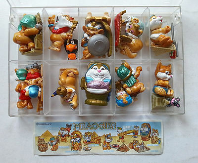 Kinder Ferrero Surprise Serie Completa Miaogizi Cats Egyptian + Cartina (It) Rar