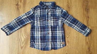 Boys Next Trendy Checked Shirt Age 18-24 Months Immaculate Condition