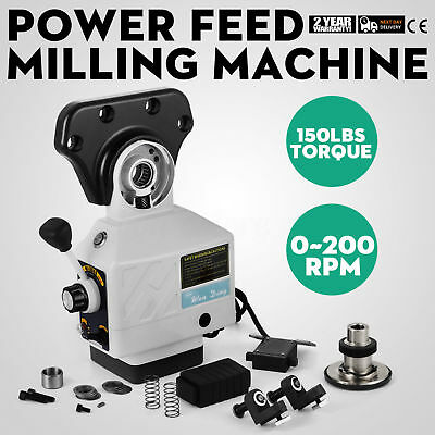 220V Power Feed X-Axis 150 Lbs Torque for Bridgeport Milling Machine 0-200 RPM