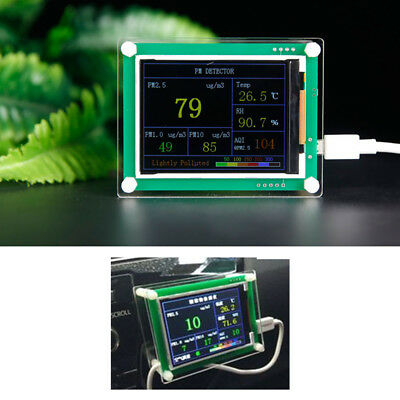 "2.8"" Car PM2.5 Detector Tester Meter PM1.0 PM10 AQI particle matter Air Monitor"