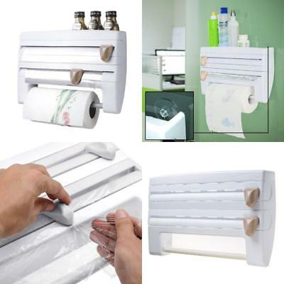Wall Mounted Paper Towel Holder Roll Foil Cling And Kitchen Dispenser