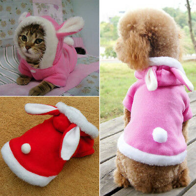 Dogs Cats Hooded Coat Jacket Pet Christmas Clothes Winter Apparel Puppy Costume