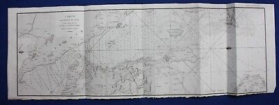 Original antique map, ORESUND, DENMARK, SWEDEN, COPENHAGEN, Tardieu, c.1820