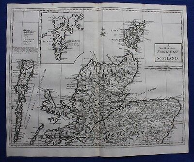 2 Original antique maps NORTH and SOUTH SCOTLAND, SCOTTISH ISLANDS, Morden, 1722