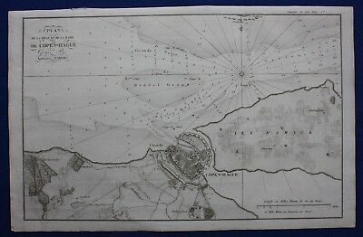 Original antique map, COPENHAGEN, DENMARK, French Wars, Tardieu, c.1820