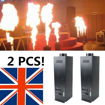 2X200W DMX Fire Spray Machine Effect Flame Thrower DJ Band Stage Projector Party
