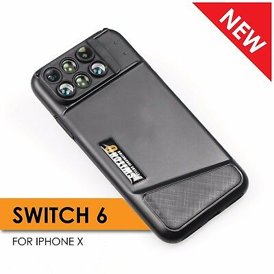 Ztylus Switch 6 Dual Optics 6-in-1 zoom lens kit for Apple iPhone X XS wide tele