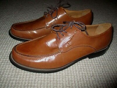 As New Gianni Versace Mens Top Designer Brown Leather Shoes 43 9