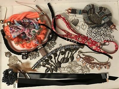 Lot (V4) Broken Jewellery Up-Cycling Shabby Chic Vintage Style Crafts Repair