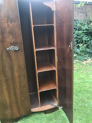 Vintage Retro Gents Wardrobe, Small Wardrobe With Shelves, Ideal Shabby Chic.