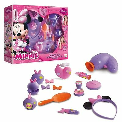 Minnie Mouse Beauty Set Includes 14 pieces - Hair Makeup & Perfume NEW BOXED