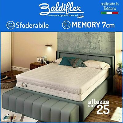 Materasso Memory Singolo 80X190 Alto 25 Cm Ortopedico 9 Zone Differenziate 2S