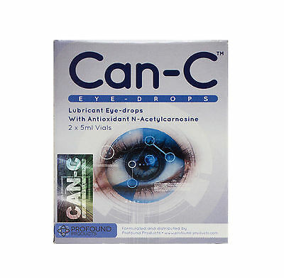 CAN-C Eye Drops (Lubricant Eyedrops With N-Acetylcarnosine) - 2 x 5ml Vials
