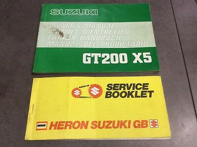Genuine suzuki gt200 x5 owners manual handbook service book genuine suzuki gt200 x5 owners manual handbook service book asfbconference2016 Images