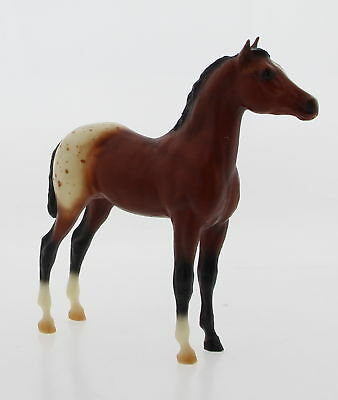 BREYER MOLDING CO. Chestnut Brown White Speckled Small Standing Horse Figurine