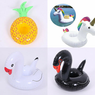 Inflatable Unicorn Drink Coaster Cup Holder Mini Float for Swimming Pool Party