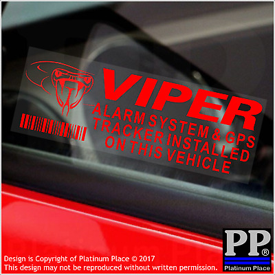 5 x VIPER GPS Tracking Device-RED-Alarm Security Stickers-Car Tracker Warning