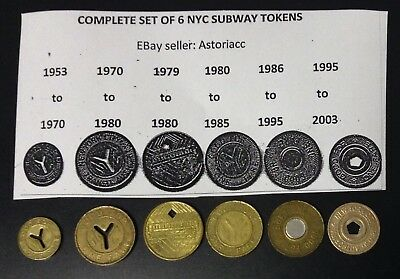 Complete Set Of Nyc Subway Tokens
