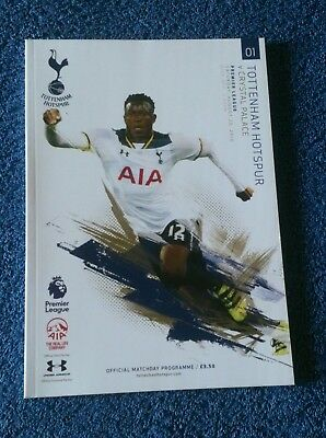 Spurs/tottenham V Crystal Palace Mint Condition Football Programme  20-8-16