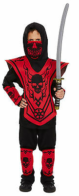 Boys Ninja Warrior Child Fancy Dress Dressing Up Outfit Costume Age 4-9 Yrs New