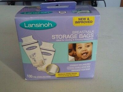 Lansinoh Breastmilk Storage Bags 100 ct, New