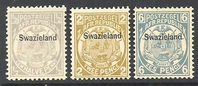 SWAZILAND 1889 P.12½ set of 3 ½d - 94621