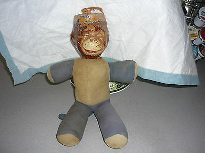 Collectible VINTAGE ANTIQUE STUFFED TOY MONKO  MONKEY BY JAY RUE NOVELTY