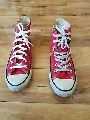 vintage converse shoes made in usa size 5.5 red