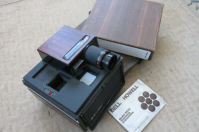Bell & Howell RC55 vintage 35mm slide projector w/ 2 Boxes & Cubes