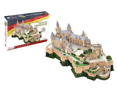 Puzzle Cubic Fun 185 Teile - 3D Puzzle - Burg Hohenzollern - Schw... (61317)