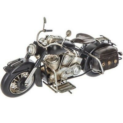 Black Metal Motorcycle Figurine Home Office Man Cave Harley Davidson style