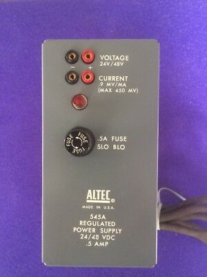 Vintage Audio ALTEC 545A Regulated 24 48 VDC Power Supply