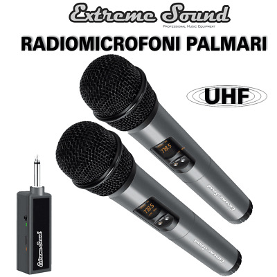 KIT Radio Microfoni PROFESSIONALI VHF EXTREME SOUND Senza Fili Wireless LWM-328