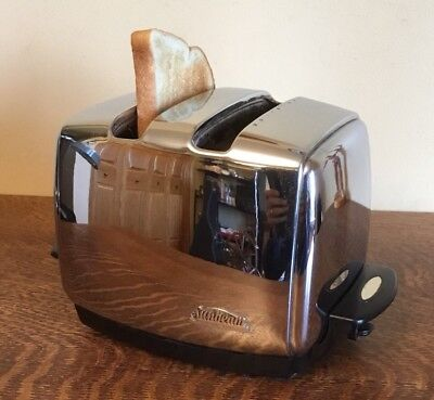 Vintage 50s Sunbeam T-35 Automatic Radiant Control 2-Slot Chrome Toaster! Nice!