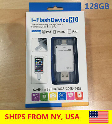 128Gb Iphone Lightning Usb On-The-Go Backup Storage Flash Drive