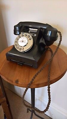 Vintage Art Deco GPO Dial Bakelite 312L (Call Exchange with Drawer) Telephone